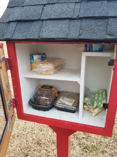 South Creekside Apartments' Little Free Pantry, Made by Solidarity Sisters Photo 2