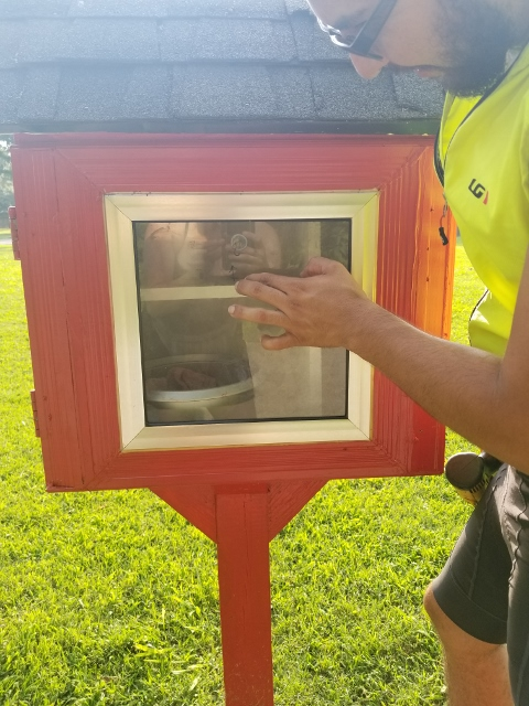 South Creekside Apartments' Little Free Pantry, Made by Solidarity Sisters Photo 1