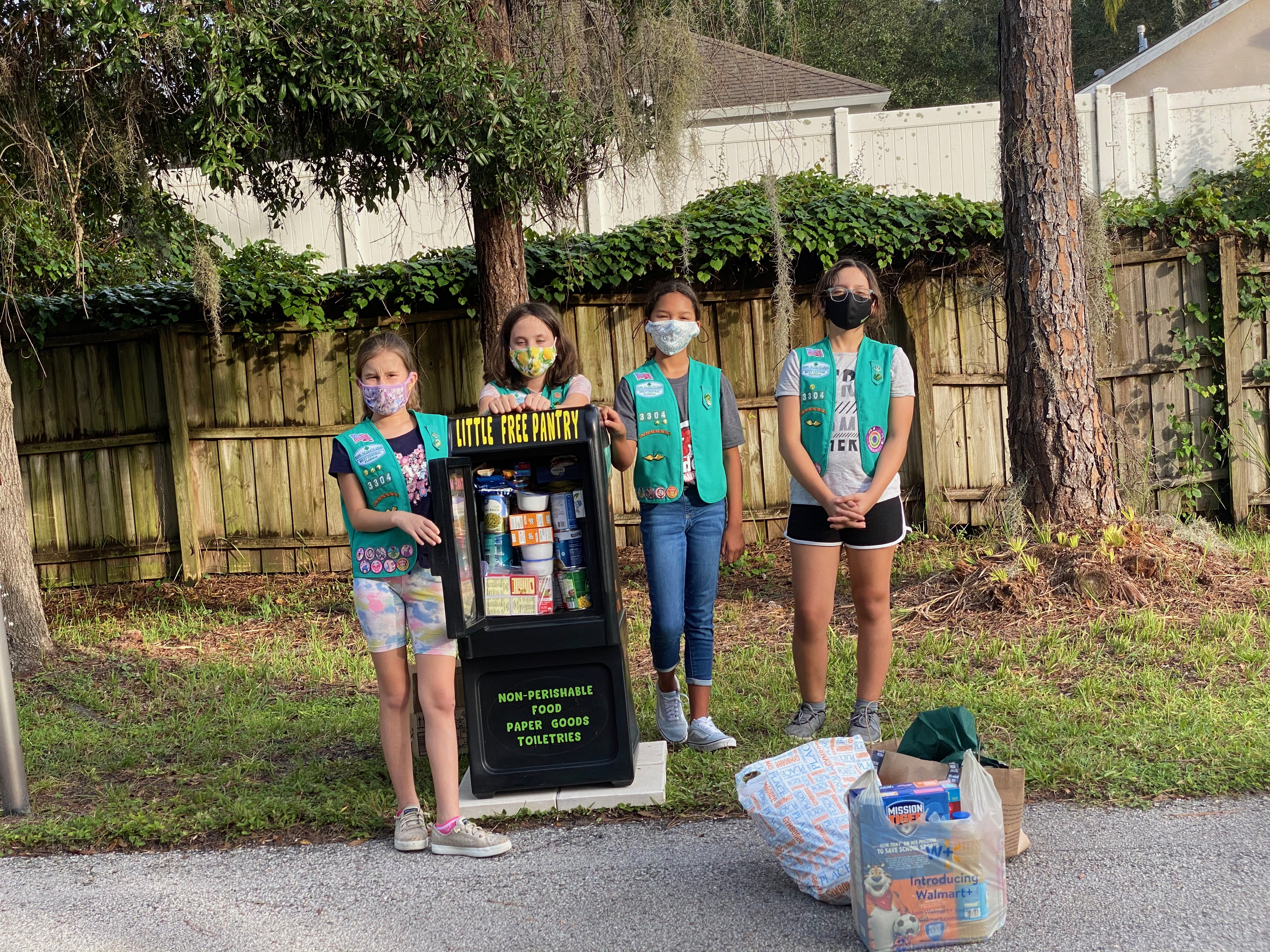 Girl Scout Troop 33304 Bronze Award Pantry Photo 1