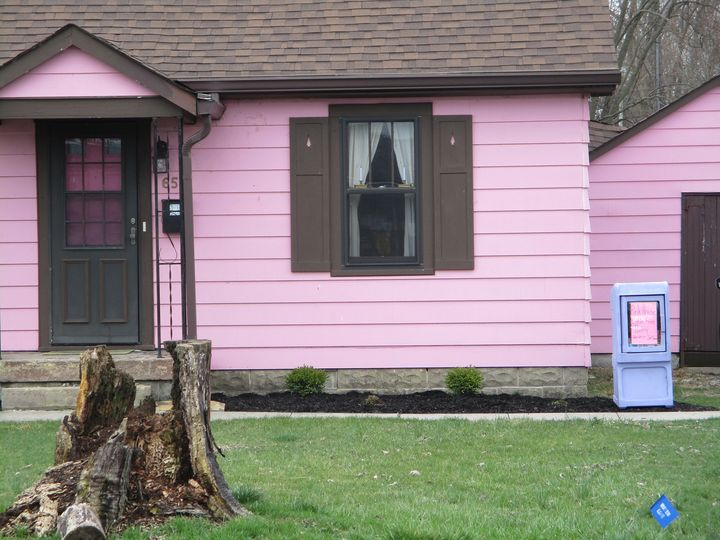 Pink House Little Free Pantry Photo 1